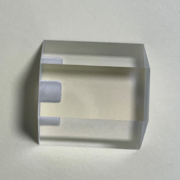 optical prism with grooves