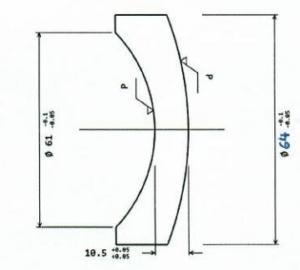 concave convex lens drawing